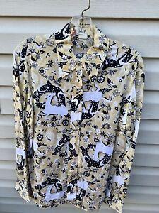 Vintage retro Women's Vera Neumann Horse Mod Pop Art Shirt Size 18