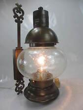 Messing Antik Stil Wandleuchte Bubbleglasschirm Landhaus Vintage Wandleuchte