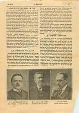 Portrait Jean Jaurès / Mihaly Karolyi de Nagykaroly Hungary 1919 ILLUSTRATION
