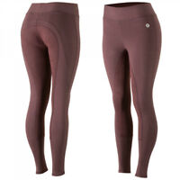 Horze Women's Active Full Seat Summer Riding Tights Pull-On Soft Cotton Blend