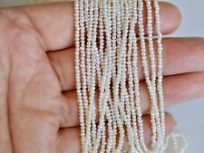 1.5mm Tiny Pearl Beads Seed Pearl Natural White Potato Freshwater Pearls  #821