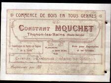 """THONON-les-BAINS (74) EXPLOITATION FORESTIERE """"Constant MOUCHET"""" Carte de Visite"""