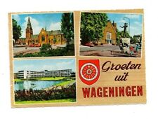 Netherlands - Wageningen - Vintage Multiview Postcard