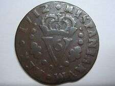 1712 VALENCIA SEISENO PHILIP V SPAIN SPANISH COPPER COIN