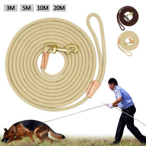3/5/10/20m Nylon Dog Tracking Lead Rolled Rope K9 Dogs Training Leash Long Line