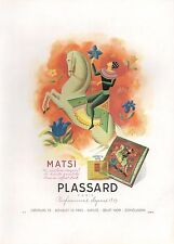▬► PUBLICITE ADVERTISING AD PARFUM PERFUME MATSI PLASSARD Paris