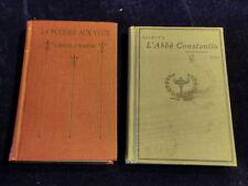 L'Abbe Constantin par Ludovic Halevy + La Poudre Aux Yeux both in French HC A26