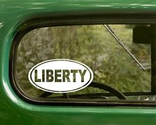 2 LIBERTY DECALs Freedom Oval Sticker For Bumper Car Truck Window Rv Jeep Laptop
