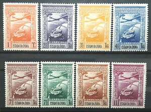 Portuguese India Stamp 1938 Air Mail Scott # C1-C8 MINT OG LH-H