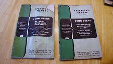 Lot 2 Vintage John Deere Tool Bars model 400A,901,951,++ Operator Owners Manual