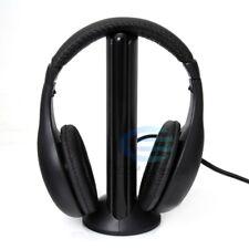 Wireless 5 In 1 Headset Headphone Cordless MP3 PC Listen TV FM Radio HIFI Music