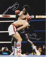Sugar Ray Leonard Roberto Duran Dual Signed 8x10 Photo - Duran Duck TriStar