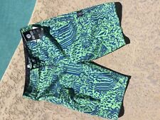 VOLCOM MENS BLUE NEON BOARD-SHORTS W30