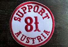 """HELLS ANGELS Support 81 Patch  Aufnäher """"SUPPORT 81 AUSTRIA"""" rund P08"""