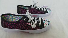 Girls Skechers Twinkle Toes Club Road Trippers Black/Pink Shoes Sz 2 83385L E46