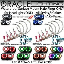 ORACLE Surface Mount Halo Kit for Headlights for 15-19 Dodge Challenger *Colors