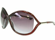 Gordian Knot Figure Eight Audrina Fashion Sunglasses Transparent Red Frame