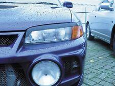 Headlight Eyebrows Eyelids Covers for 1996-1998 1997 Mitsubishi Lancer Evo 3 4