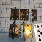 """Lot Of Vintage flash """"copper""""steel ball tip door Hinge door hardware """"brass"""""""