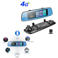 "4G DVR  LED Rear View Mirror Camera 7.84"" Touch Panel GPS Navigation Dual lens"
