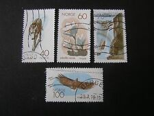 NORWAY, SCOTT # 551-554(4), COMPLETE SET 1970 NATURE CONSERVATION ISSUE USED