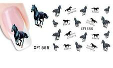 Black Horse 3D Nail Art Sticker Decal Decoration Manicure Water Transfer