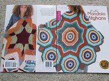 Leisure Arts Crochet MINDFUL MANDALA AFGHANS pattern book