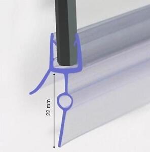 Duschdichtung für 5-6mm Duschtrennwand unten, 90 cm lang, Höhe der Lippe 22mm
