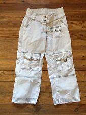 S elly B by Olian White maternity capri pants black stitching under belly waist