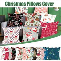 45*45CM Christmas Cushion Cover Pillow Case Home Sofa Throw Decor Xmas Santa