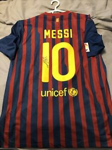 Fc Barcelona 2011 Messi signed jersey without certificate [Read description] XL