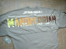 New Disney Star Wars Mandalorian Spirit Jersey Sweater Shirt Adult Small Grey !