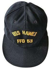 Cappellino Uss Hawes FFG 53 Usa Unisex con visiera lunga cappello berretto Navy