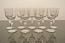 "Lot 9 Libbey Rock Sharpe Candlelight Star Stem 8 oz Wine Water Goblet 7"" Glass"