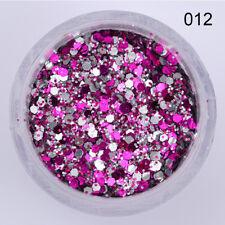 10ml Nail Art Glitter Powder Dust Blue Pink Purple Nails Sequins Flakes Manicure