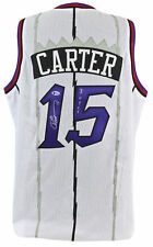 "Raptors Vince Carter ""ROY 99"" Authentic Signed White Jersey BAS Witnessed"