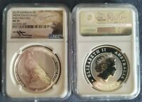 2017 P AUSTRALIA SILVER WEDGE TAILED EAGLE NGC MS 70 EARLY RELEASES MERCANTI