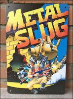 METAL SLUG - RARE Metal Wall Tin Sign Arcade Game Poster snk neo geo neogeo