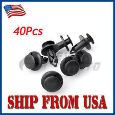 US 40 Pcs 8mm Black Nylon Fender Retainer Liner Clips For Honda 450r Rancher FM
