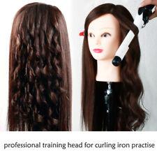 dark brown 60% natural hairstyling head maniqui manikin head with real hair