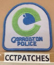 VINTAGE CARROLLTON, TEXAS POLICE SHOULDER PATCH TX