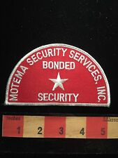 Collector Patch ~ Motema Security Services Inc. Bonded ~ Officer / Guard C64K
