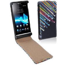 Flip Tasche für Sony xperia S / LT27i Sterne bunt Case Hülle Etui Schutzcase