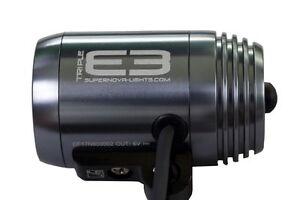 SUPERNOVA Frontscheinwerfer E3 triple silber grau 800 Lumen