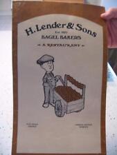 Vintage H.Lenders & Sons Restaurant Menu, Post Rd Orange & Hamden, Conn