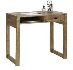 Schreibtisch Naturholz Mango Massiv 88x77x50cm NEU OVP