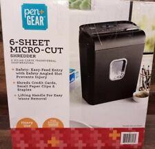 Bonsaii C234 A P 4 High Security Portable 6 Sheet Micro Cut Paper Shredder Bin