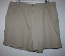 Mens Tan Elastic Back Light Weight Cotton Blend Shorts Tag Size 44