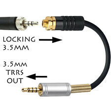3.5mm SENNHEISER MICROPHONE JACK ADAPTER TO 3.5mm TRRS iPad iPhone Smartphone