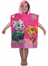 Official Pink Girls Paw Patrol Forever Character 100% Cotton Hooded Towel Poncho